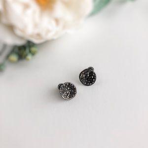 Kenneth Cole Round Black Druzy Earrings